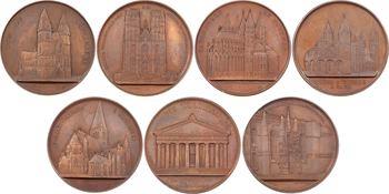 Europe, série de 7 médailles, les cathédrales d'Europe par Wiener