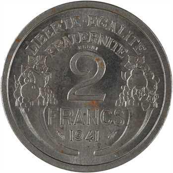 État français, essai de 2 francs Morlon en fer, poids lourd, 1941 Paris