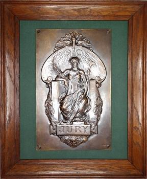 IIIe République, Exposition Universelle de Paris, grande fonte de membre de jury pour l'Exposition internationale de Paris 1900, n° 45, par Louis Bottée