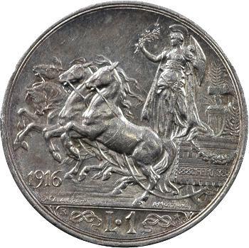 Italie (royaume d'), Victor-Emmanuel III, 1 lire, 1916 Rome