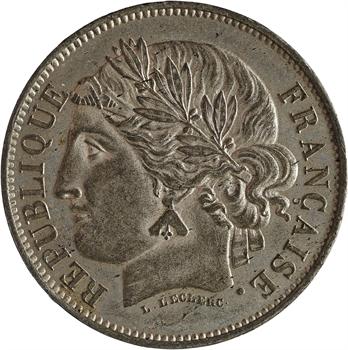 IIe République, concours de 5 francs par Leclerc, 1848 Paris