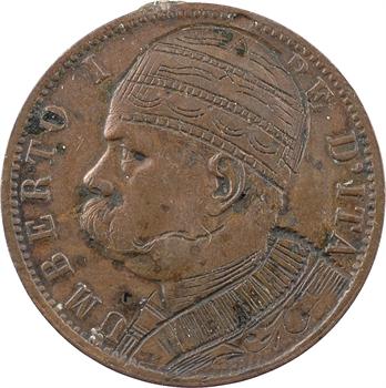 Italie (royaume d'), Humbert Ier, monnaie satirique sur 10 centimes, 1894 Birmingham