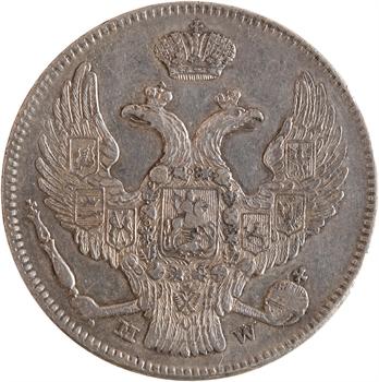 Pologne (occupation russe), Nicolas Ier, 30 kopecks, 1838 Varsovie