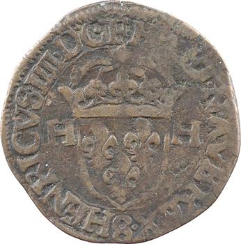 Henri IV, douzain aux 2 H 1er type, faux d'époque [1595 Troyes]