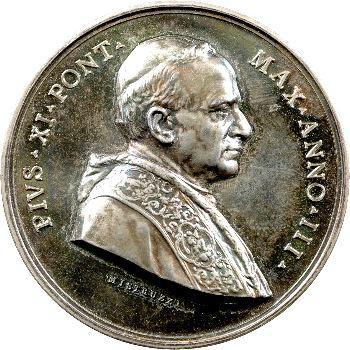 Vatican, Pie XI, médaille annuelle, la nouvelle Université grégorienne, 1924