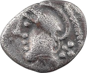 Éduens, denier à l'effigie stylisée, c.Ier s. av. J.-C