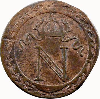 Premier Empire, 10 centimes à l'N couronnée, 1808 Nantes