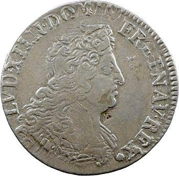 Louis XIV, quart d'écu aux insignes, 1702 Paris