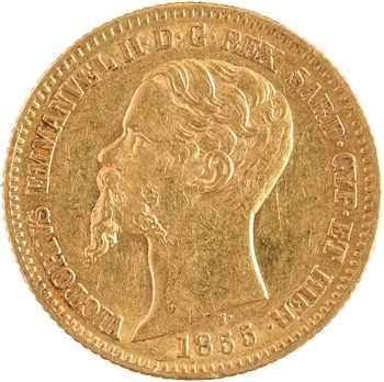 Italie (royaume d'), Victor-Emmanuel II, 20 lire, 1855 Turin