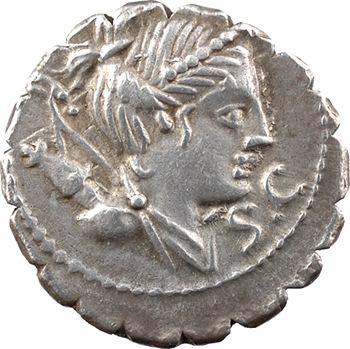 Claudia, denier serratus, Rome, 79 av. J.-C.