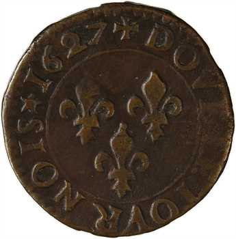 Louis XIII, denier tournois 1er type, 1614 Paris