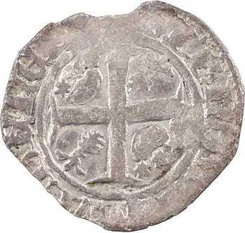Bretagne (duché de), Jean IV, demi-blanc guénar ou quart de guénar, s.d. (après 1385) atelier indéterminé
