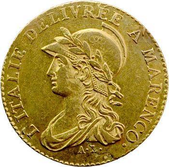 Italie, Gaule subalpine, 20 francs Marengo, An 9 Turin