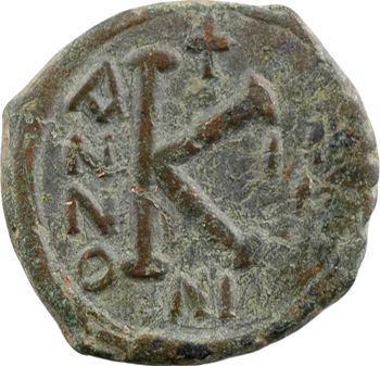 Justin II et Sophie, demi-follis, Nicomédie, An III = 567-568