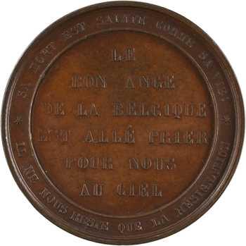 Belgique, la mort de Louise Marie d'Orléans, par Jouvenel, 1850 Bruxelles