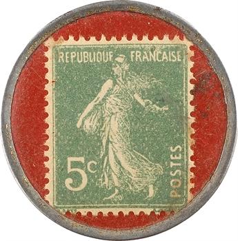 Marseille, Exposition coloniale, timbre-monnaie de 5 centimes, 1922