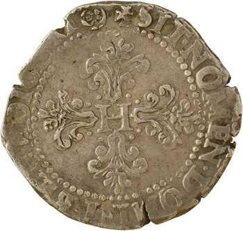Henri III, franc au col plat, 1577 ? Angers