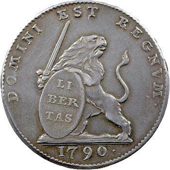 Belgique (États-Belgiques-Unis), lion d'argent, 1790 Bruxelles