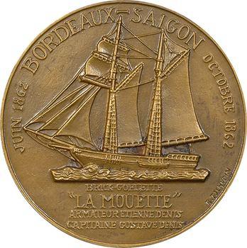 Ve République, Maison Denis frères, centenaire et traversée de Bordeaux à Saigon de La Mouette, par Tschudin, 1862-1962 Paris