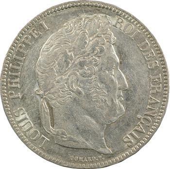 Louis-Philippe Ier, 5 francs IIe type Domard, 1834 Paris