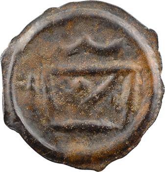 Grande-Bretagne, Cantiens (Kent), potin à la tête à gauche et au taureau stylisés, Ier s. av. J.-C