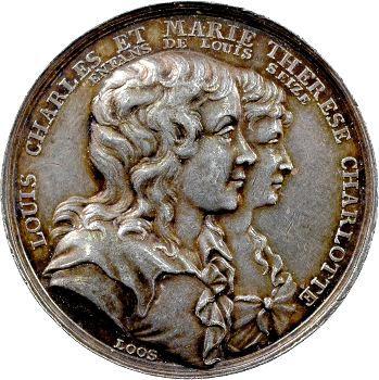 Louis XVII et Marie Thérèse Charlotte, l'énigme, par Loos, c.1795 Berlin