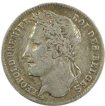 Belgique (royaume de), Léopold Ier, 1/4 franc, 1834 Bruxelles