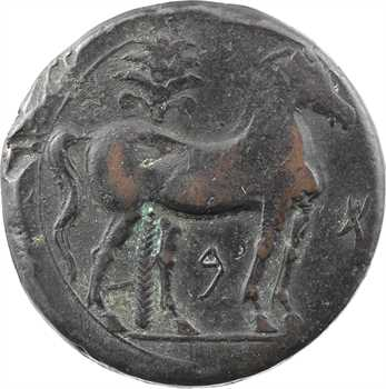 Zeugitane, Carthage, grand bronze ou trishekel, c.215-208 av. J.-C