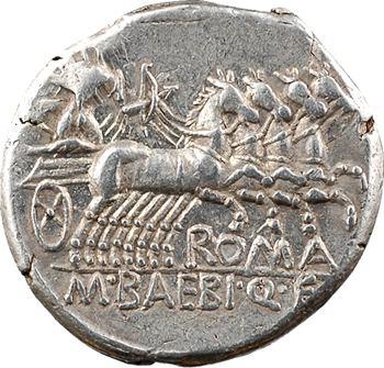 Baebia, denier, Rome, 137 av. J.-C.