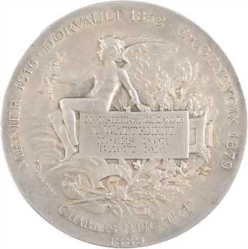 IIIe République, médaille de pharmacie transformée en médaille de noces d'or, par Rasumny, 1912 Paris
