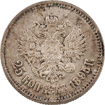 Russie, Nicolas II, 25 kopecks, 1895 Saint-Pétersbourg