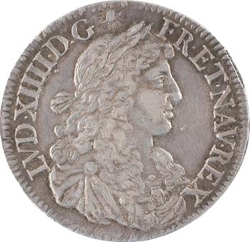 Louis XIV, demi-écu au buste juvénile, 2e effigie, 1669 Paris