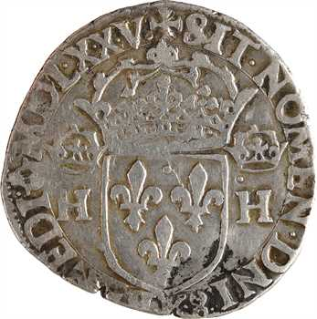 Henri III, teston 1er type, sans POL, 1575 Bordeaux
