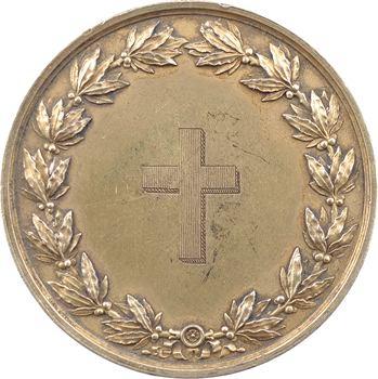 Louis-Philippe Ier, médaille de mariage en vermeil, le vicomte du Quesne et Suzanne Heurtault du Mez, 1842 Paris