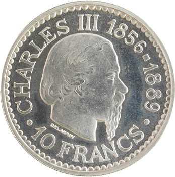 Monaco, Rainier III, essai de 10 francs Charles III, 1966 Paris