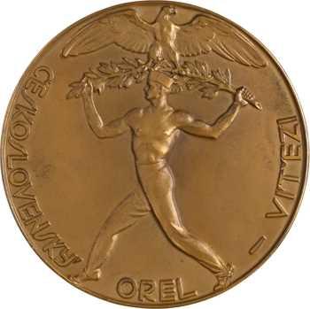 Tchécoslovaquie, la victoire d'Orel, par Julius Pelikán, 1929
