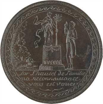 Directoire (?), médaille de mariage en taille directe, s.d
