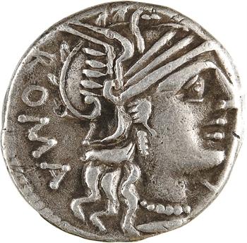 Minucia, C. Minucius Augurinus, denier, Rome, 135 av. J.-C