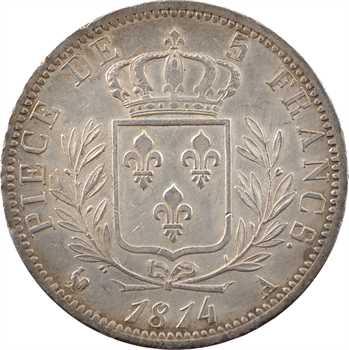 Louis XVIII, 5 francs buste habillé, 1814 Paris