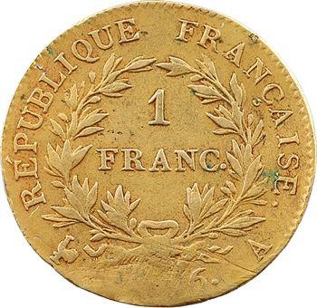 Premier Empire, 1 franc calendrier grégorien, exemplaire doré, 1806 Paris