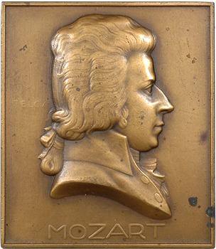 Hongrie, Mozart, plaquette uniface par Ede Telcs, s.d. Paris