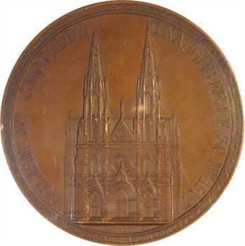 Second Empire, inauguration de l'église Sainte-Clotilde de Paris, par Merley, 1857 Paris, PCGS SP62BN
