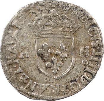 Henri IV, douzain aux 2 H, 2e type, 1594 Rennes