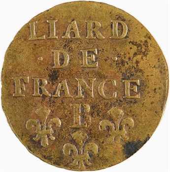 Louis XIV, liard de cuivre, 3e type, 1700 Rouen