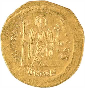 Maurice Tibère, solidus, Constantinople, 10e officine, 582-602