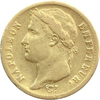 Premier Empire, 20 francs Empire, 1814 Lille
