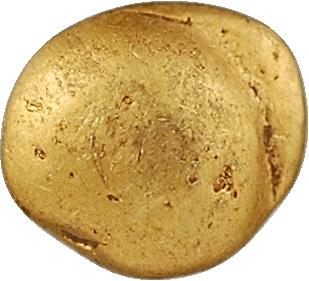Sénons, quart de statère globulaire au segment, classe V, Ier s. av. J.-C