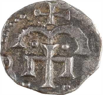 Neustrie, Paris, denier à la croix ancrée, c.725