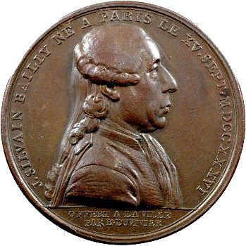 Révolution française, Bailly maire de Paris, par Duvivier, 1789