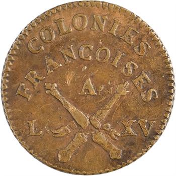Amérique, Louis XV, sol des colonies françaises, 1er type, 1767 Paris